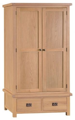 Chelmsford Oak Double Wardrobe With Drawers